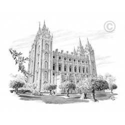 "Salt Lake Temple ""Marriage"" Drawing"