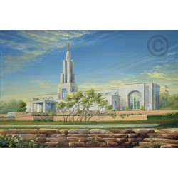 San Antonio Texas Temple Painting