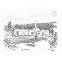 Spokane Washington Temple Drawing
