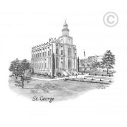 St. George Utah Temple  Drawing