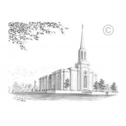 St. Louis Missouri Temple Drawing