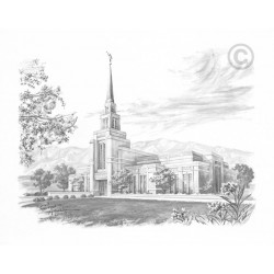 The Gila Valley Arizona Temple Drawing
