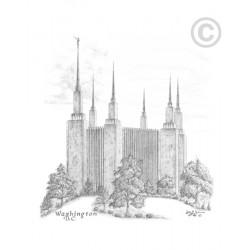 Washington D.C. Temple Drawing