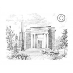 Copenhagen Denmark Temple Drawing