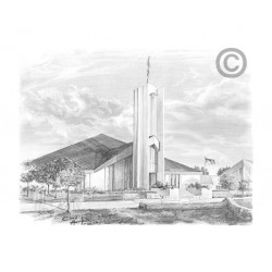 Freiberg Germany Temple Drawing