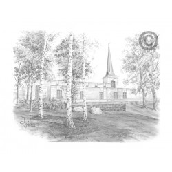 Helsinki Finland Temple Drawing