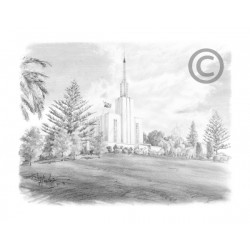Hamilton New Zealand Temple Drawing