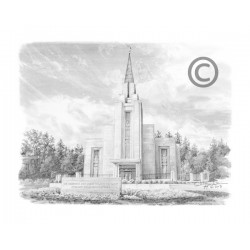 Vancouver Canada Temple Drawing