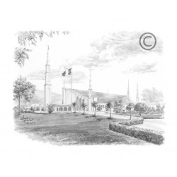 Lima Peru Temple Drawing