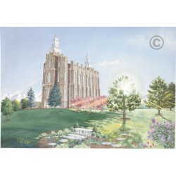 Logan Utah Temple Painting (The Morning Breaks)