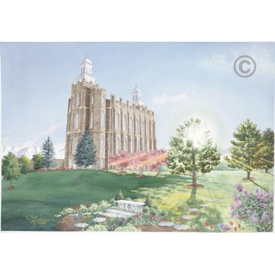 Logan Utah Temple Painting (The Morning Breaks)