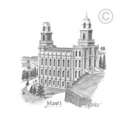 Manti Utah Temple Drawing