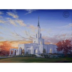 Sacramento California Temple Painting (Sunset)