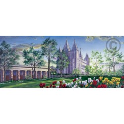 Salt Lake Temple (Spring at Temple Square)