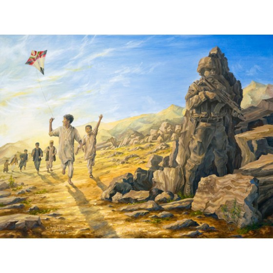 "US Army War College Painting""The Rock of Hope and Freedom"""